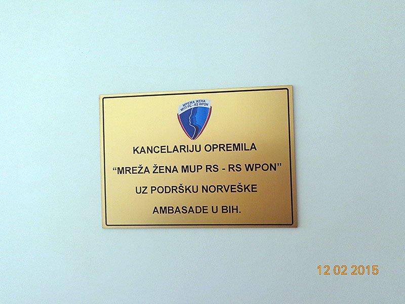 """Projekat """"Opremanje kancelarije za rad policije sa ranjivim grupama (djeca, žene, žrtve nasilja, manjinske grupe)"""